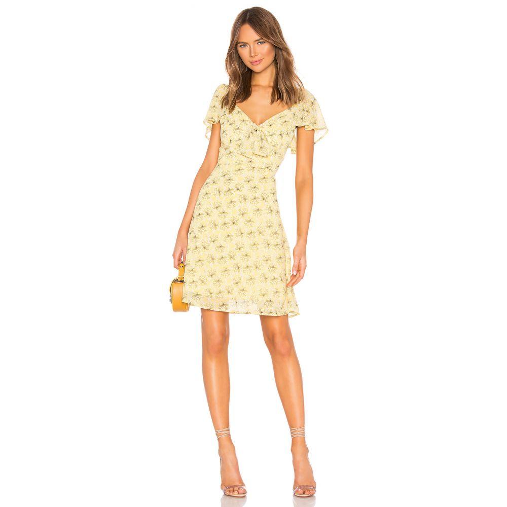 ライン アンド ドット Line & Dot レディース ワンピース ワンピース・ドレス【Jamie Mini Dress】Custard Yellow