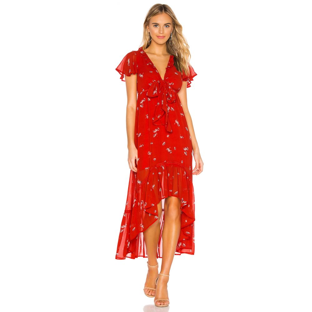 ライン アンド ドット Line & Dot レディース ワンピース ワンピース・ドレス【Pradera Midi Dress】Tangerine Red