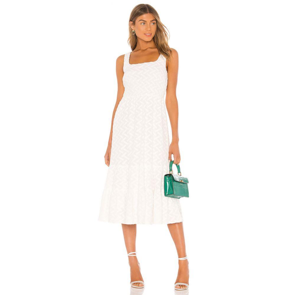 ライン アンド ドット Line & Dot レディース ワンピース ワンピース・ドレス【Becky Summer Dress】White