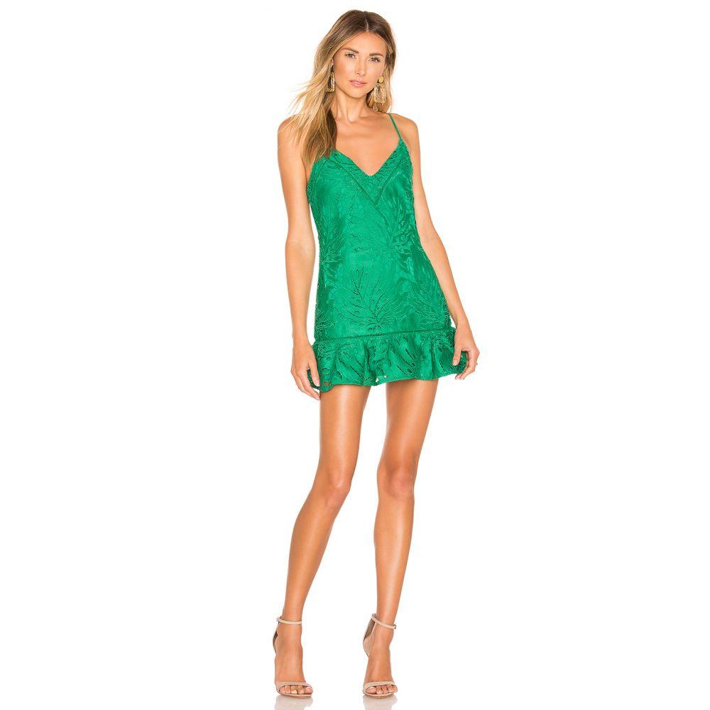 ラヴァーズフレンズ Lovers + Friends レディース ワンピース ワンピース・ドレス【Jorgie Mini Dress】Kelly Green