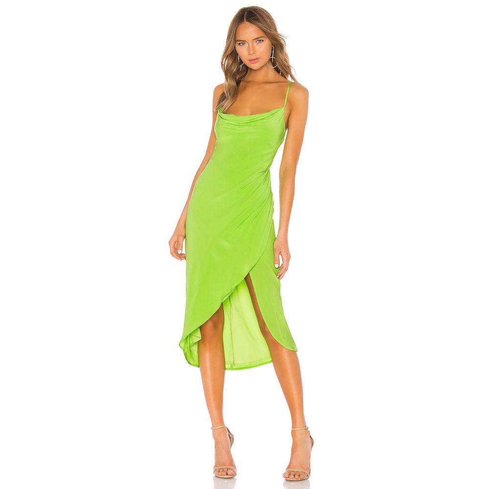 ラヴァーズフレンズ Lovers + Friends レディース ワンピース ワンピース・ドレス【Noah Wrap Dress】Lime Green