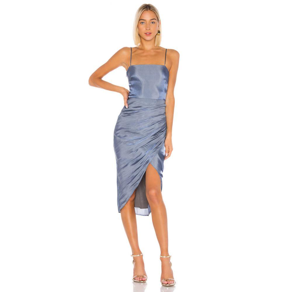 ラヴァーズフレンズ Lovers + Friends レディース ワンピース ワンピース・ドレス【Nolita Midi Dress】Slate Blue