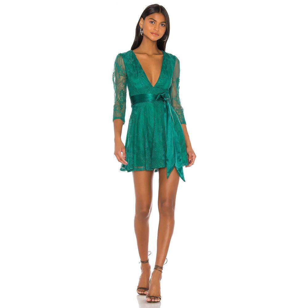 ラヴァーズフレンズ Lovers + Friends レディース ワンピース ワンピース・ドレス【Cheryl Mini Dress】Emerald Green