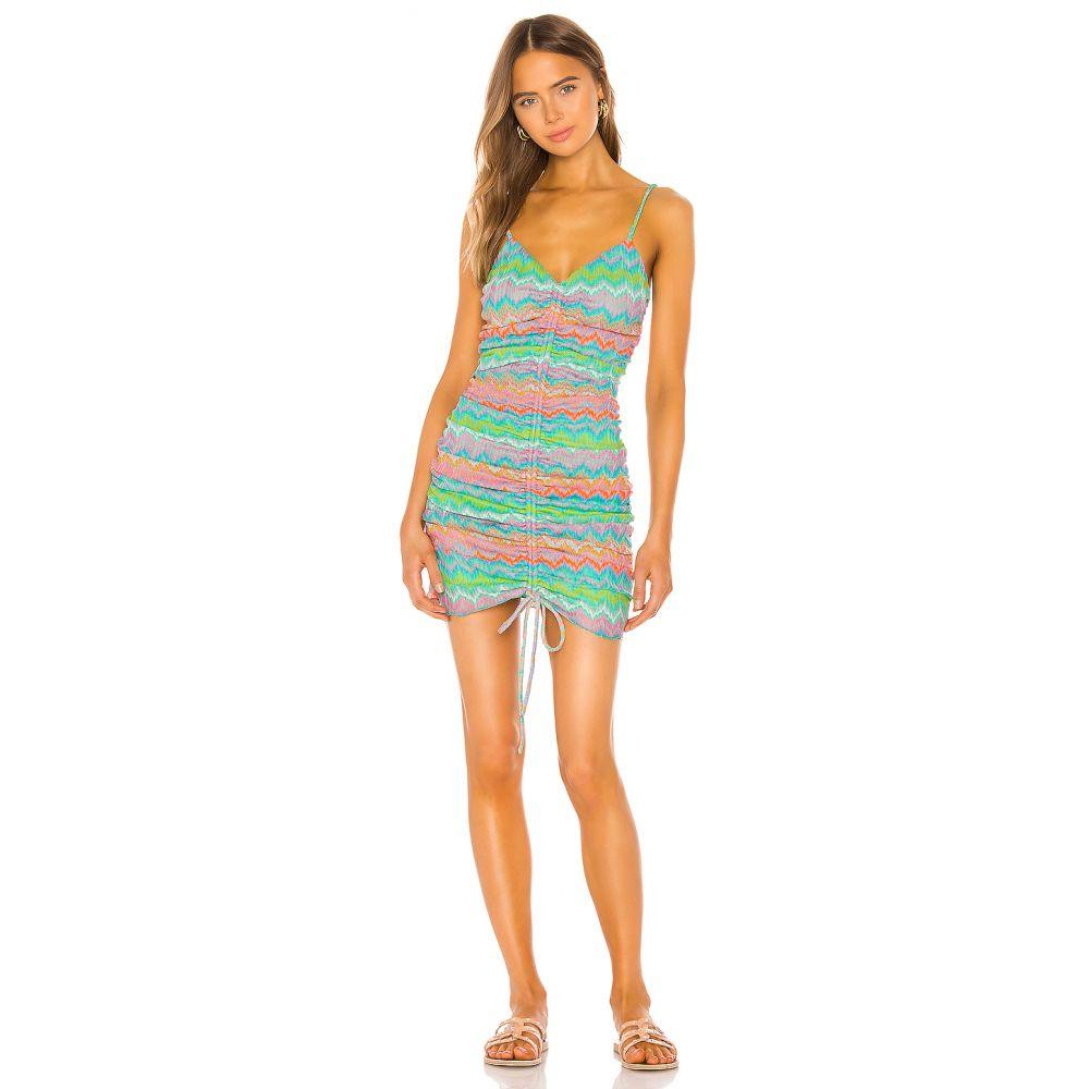 ラヴァーズフレンズ Lovers + Friends レディース ワンピース ワンピース・ドレス【Augusta Mini Dress】Neon Multi