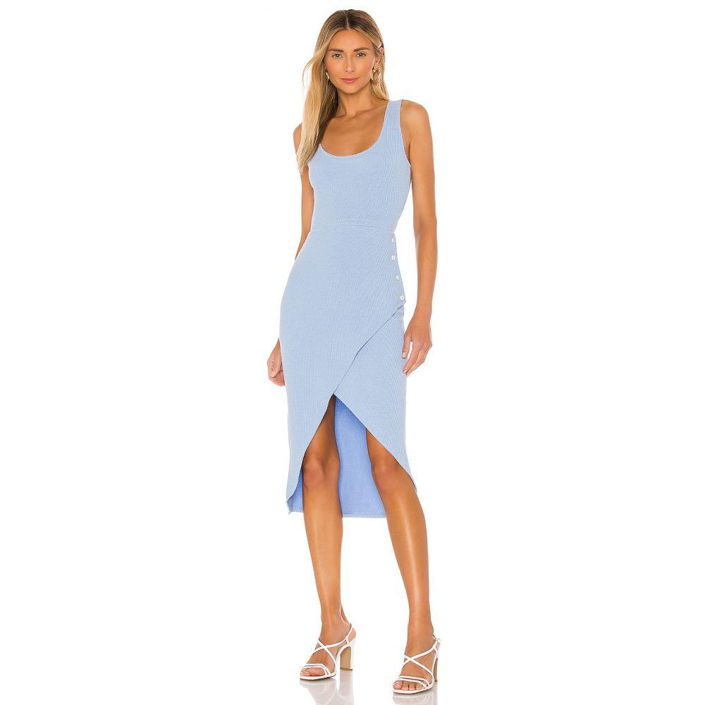 ラヴァーズフレンズ Lovers + Friends レディース ワンピース ワンピース・ドレス【Macpherson Midi Dress】Sky Blue