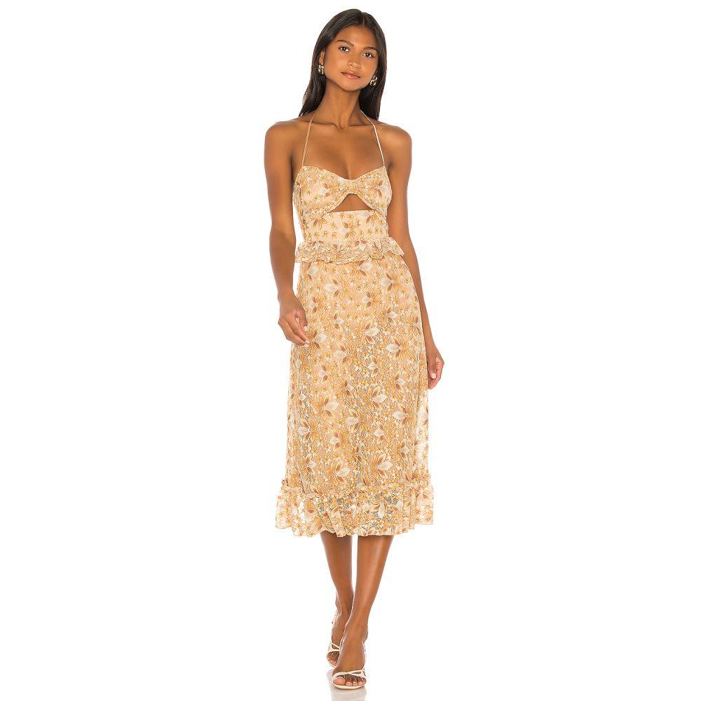 マジョレル MAJORELLE レディース ワンピース ワンピース・ドレス【Jessica Midi Dress】Tuscany Yellow