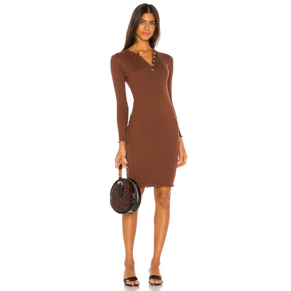 マジョレル MAJORELLE レディース ワンピース ワンピース・ドレス【Yasmine Midi Dress】Pecan Brown
