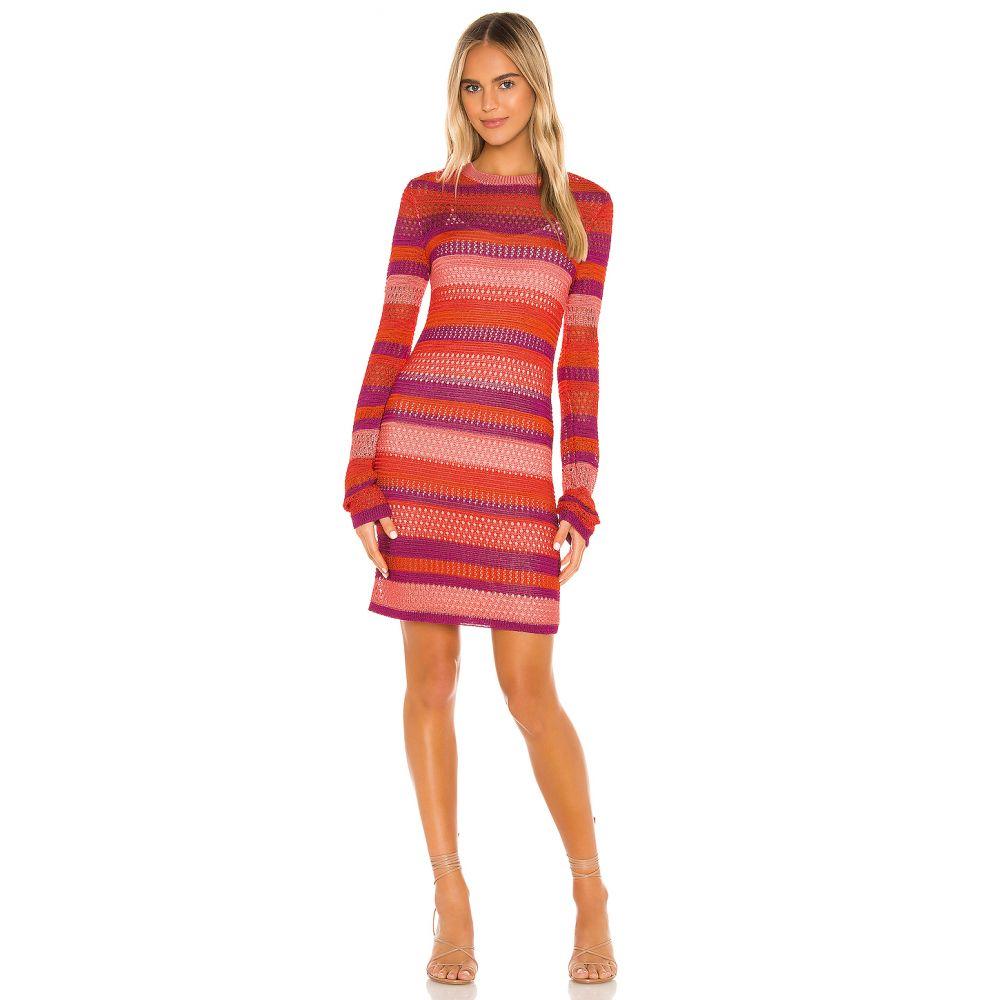 マジョレル MAJORELLE レディース ワンピース ワンピース・ドレス【Rhapsody Knit Dress】Coral Stripe