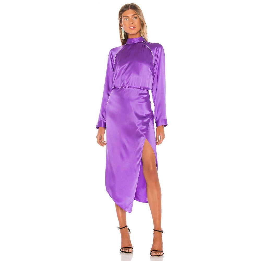 ミシェル メイソン Michelle Mason レディース ワンピース ワンピース・ドレス【Raglan Dress With Crystal】Grape