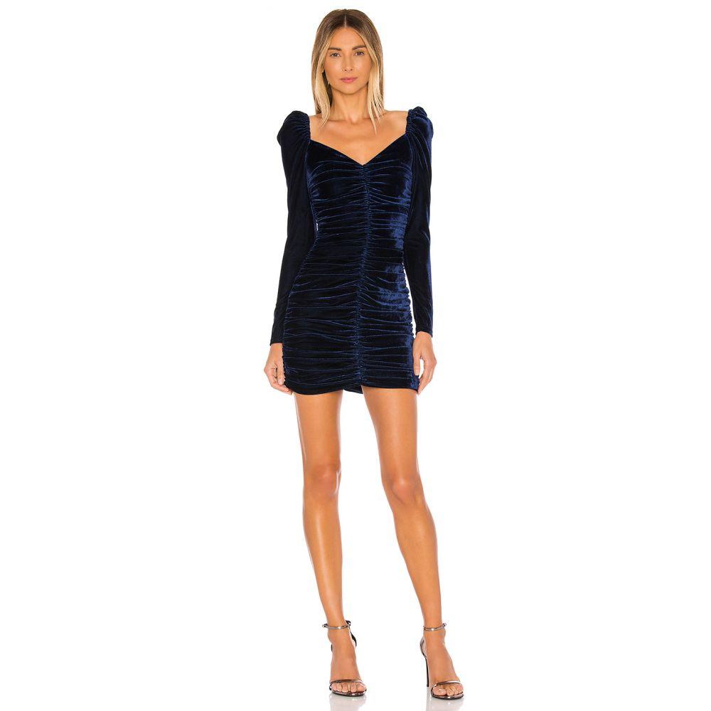 ミンクピンク MINKPINK レディース ワンピース ワンピース・ドレス【Neva Velvet Ruched Dress】Midnight Blue