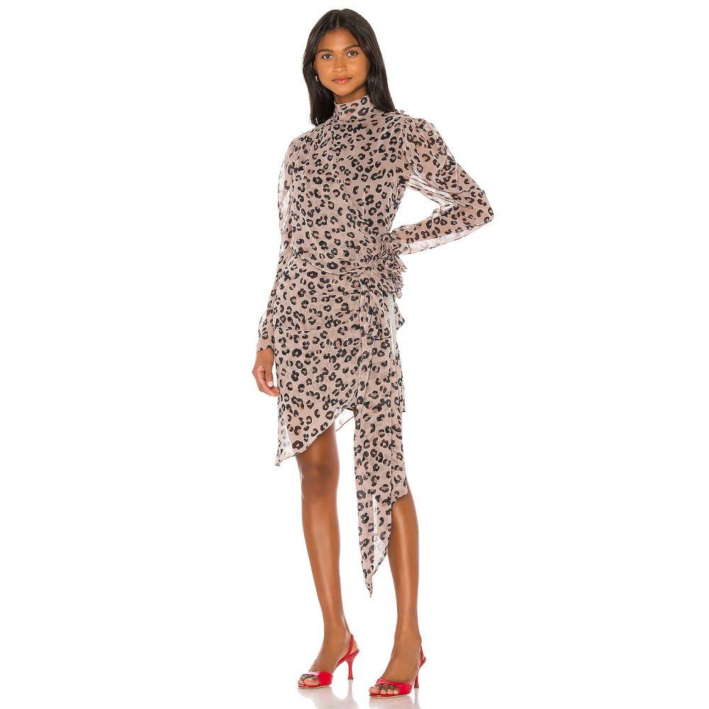 マリアナシンシア MARIANNA SENCHINA レディース ワンピース ワンピース・ドレス【Asymmetrical Dress】Coffee