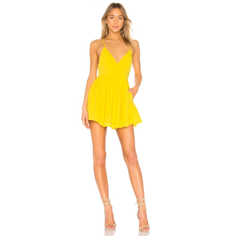 エヌビーディー NBD レディース ワンピース ワンピース・ドレス【Suki Mini Dress】Vibrant Yellow