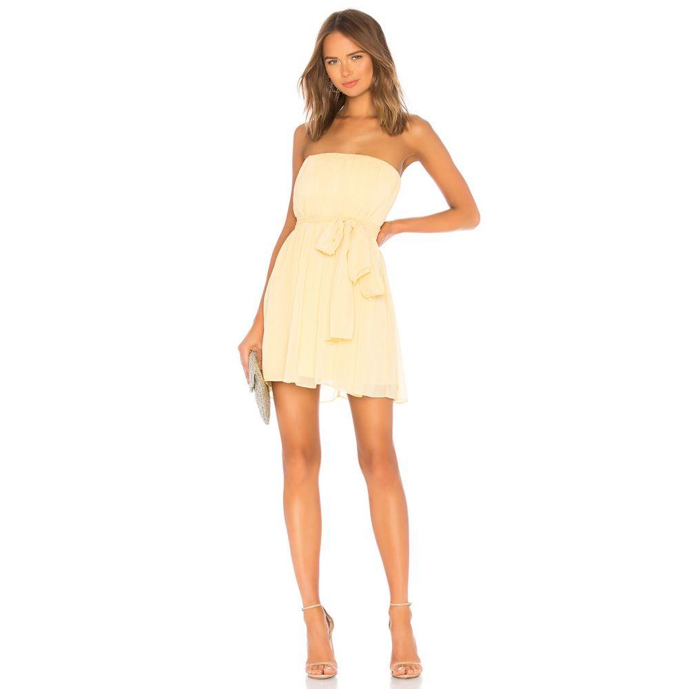 エヌビーディー NBD レディース ワンピース ワンピース・ドレス【Paradisco Mini Dress】Cream Yellow