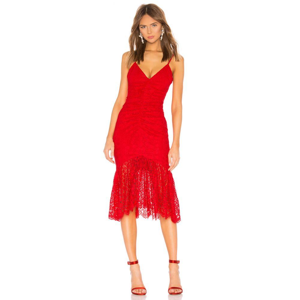 エヌビーディー NBD レディース ワンピース ワンピース・ドレス【Roxy Midi Dress】Cherry Red