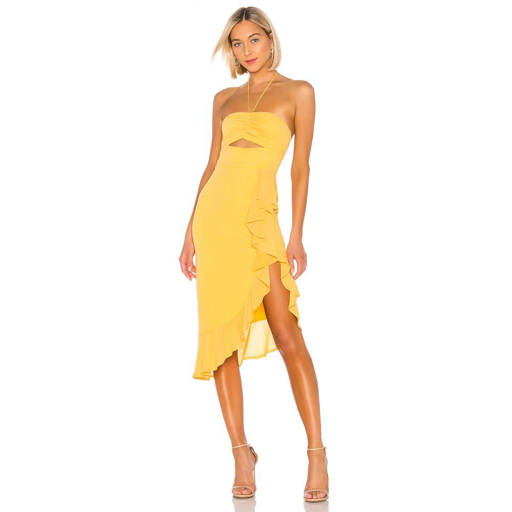 エヌビーディー NBD レディース ワンピース ワンピース・ドレス【Chancy Midi Dress】Pastel Yellow