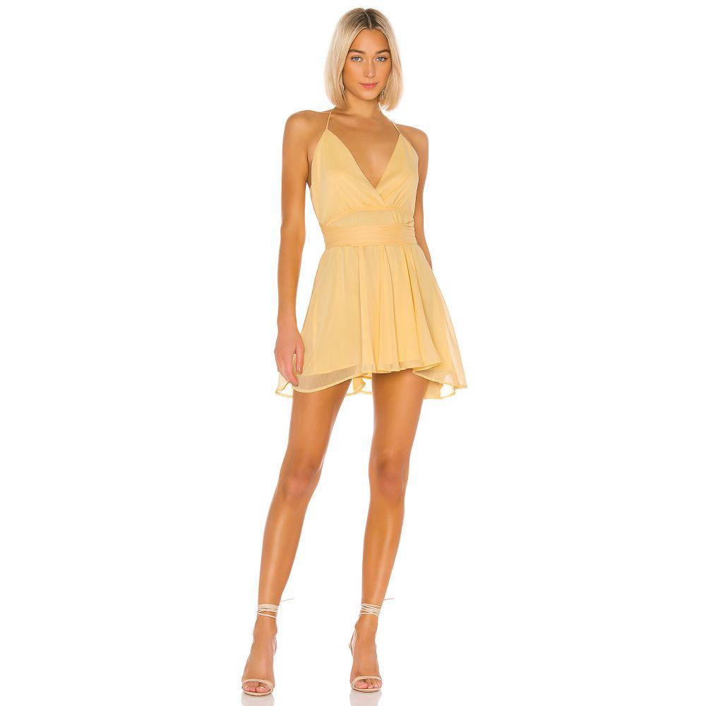 エヌビーディー NBD レディース ワンピース ワンピース・ドレス【Robyn Mini Dress】Cream Yellow