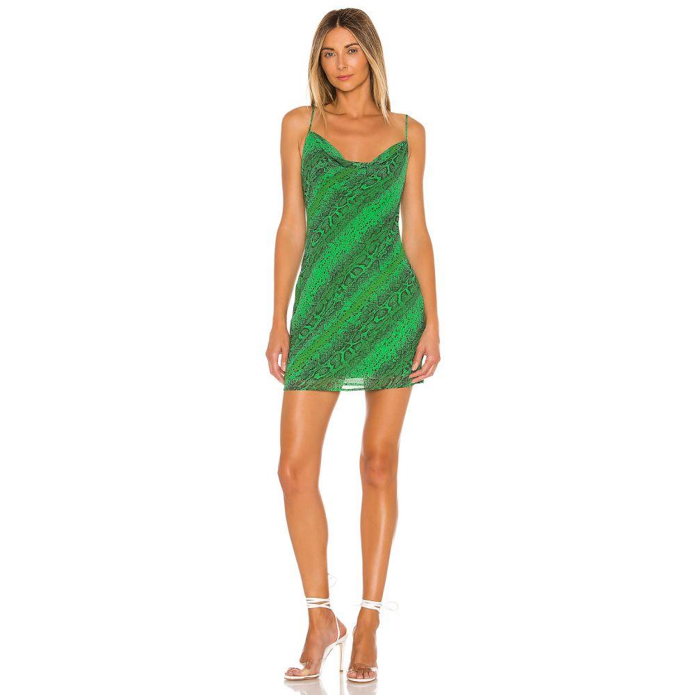 エヌビーディー NBD レディース ワンピース ワンピース・ドレス【Maisie Mini Dress】Green Snake