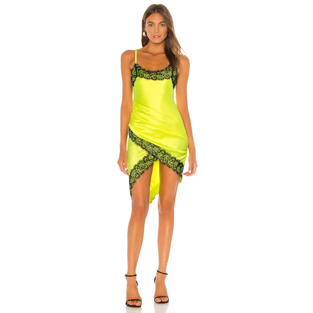 エヌビーディー NBD レディース ワンピース ワンピース・ドレス【Lipa Slip Dress】Chartreuse