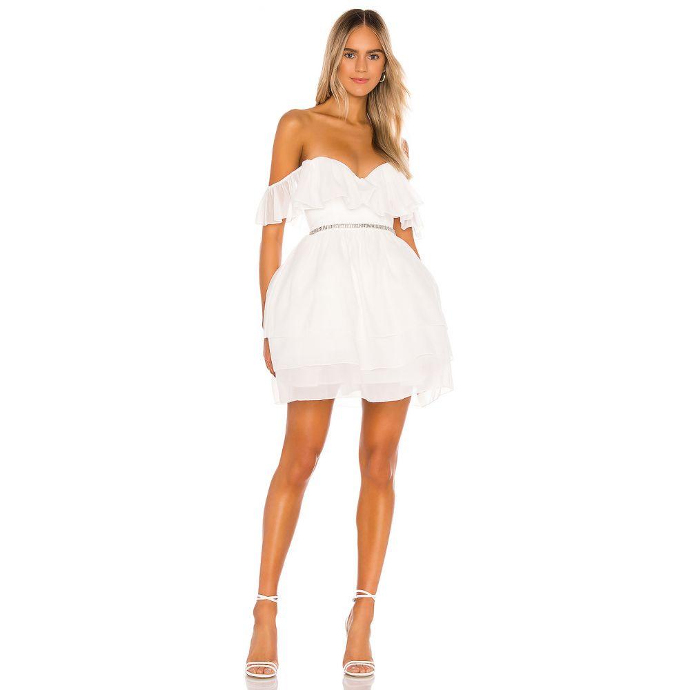 エヌビーディー NBD レディース ワンピース ワンピース・ドレス【Benae Mini Dress】White