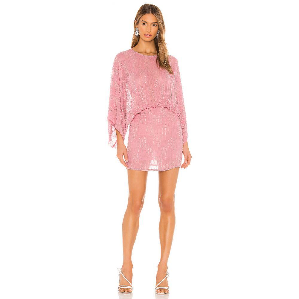 エヌビーディー NBD レディース ワンピース ワンピース・ドレス【Soliana Embellished Mini Dress】Blush Pink