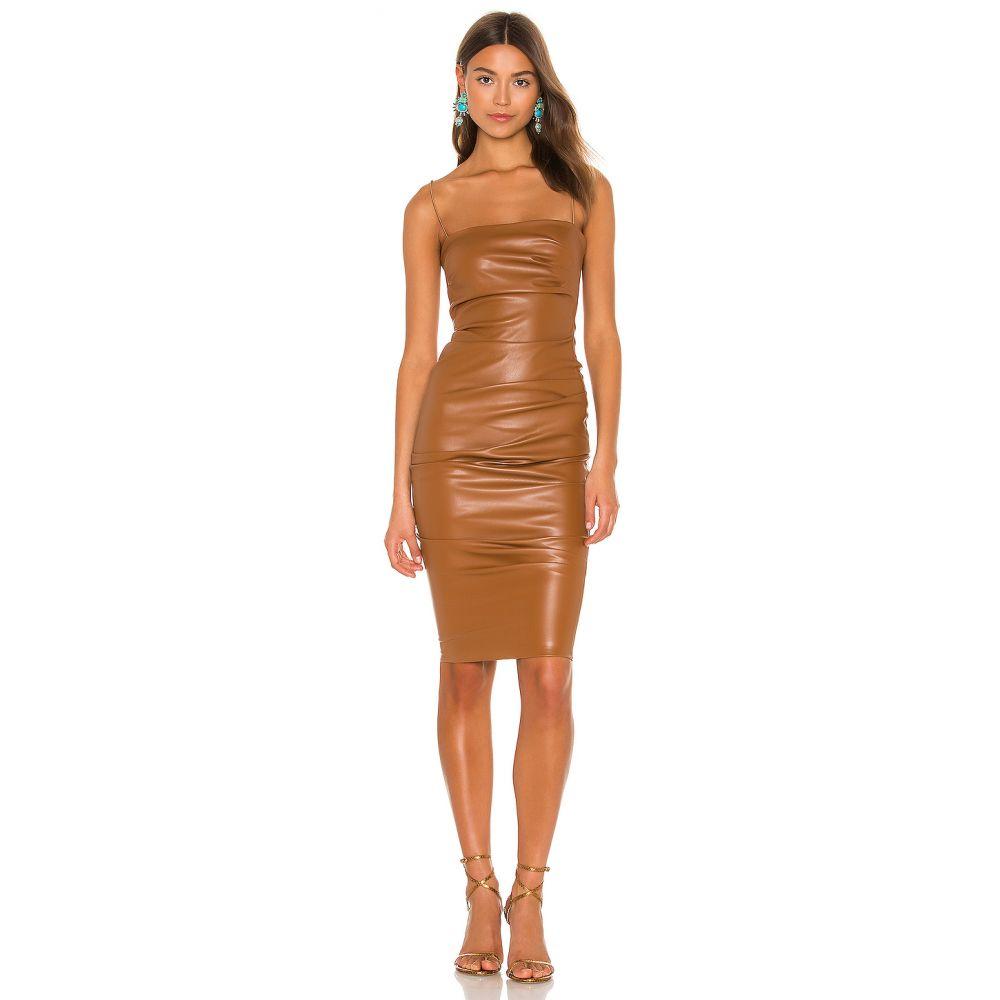 ノーキー Nookie レディース ワンピース ワンピース・ドレス【Posse x REVOLVE Faux Leather Midi Dress】Brown