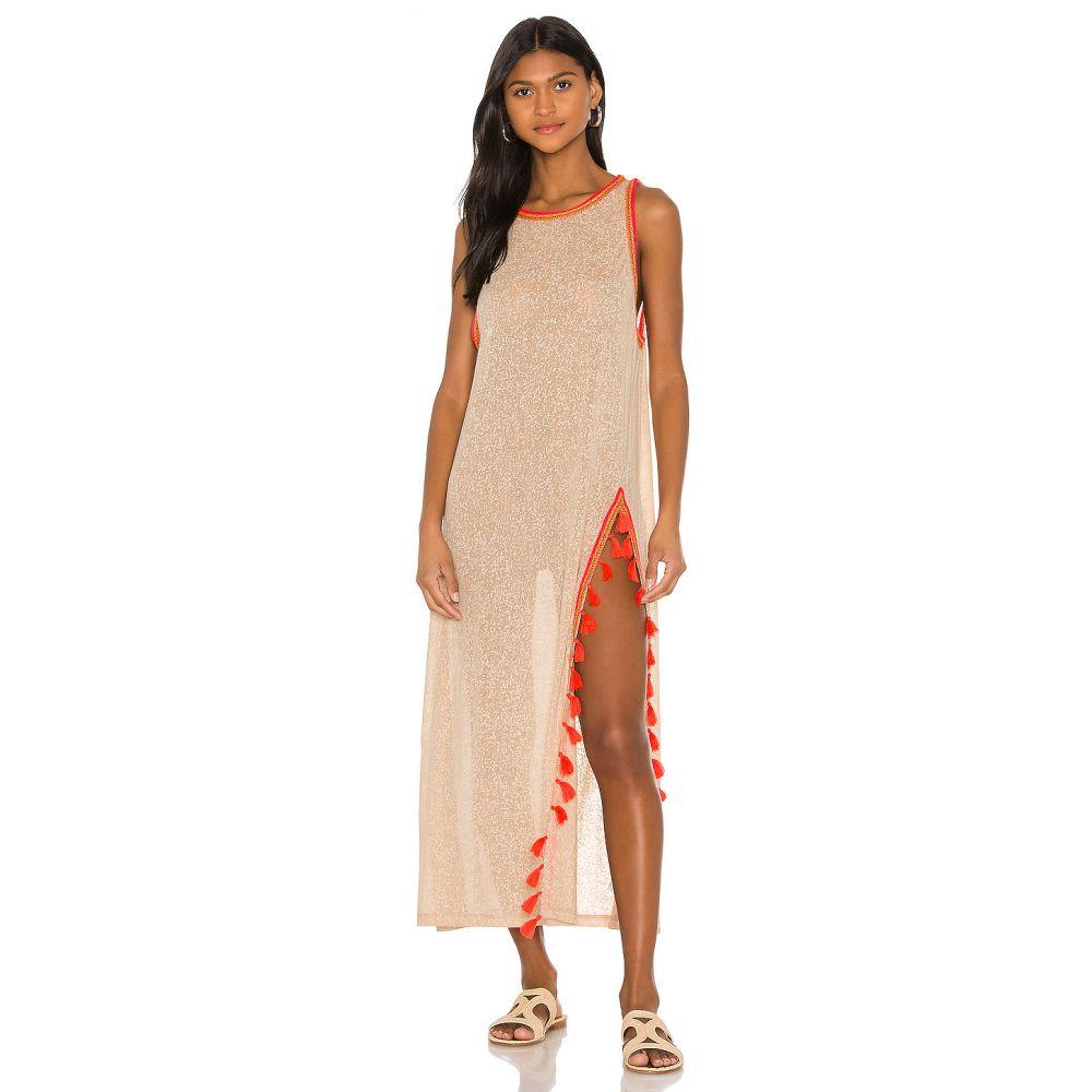 ピトゥサ Pitusa レディース ワンピース ワンピース・ドレス【Tassel Slit Dress】Nude