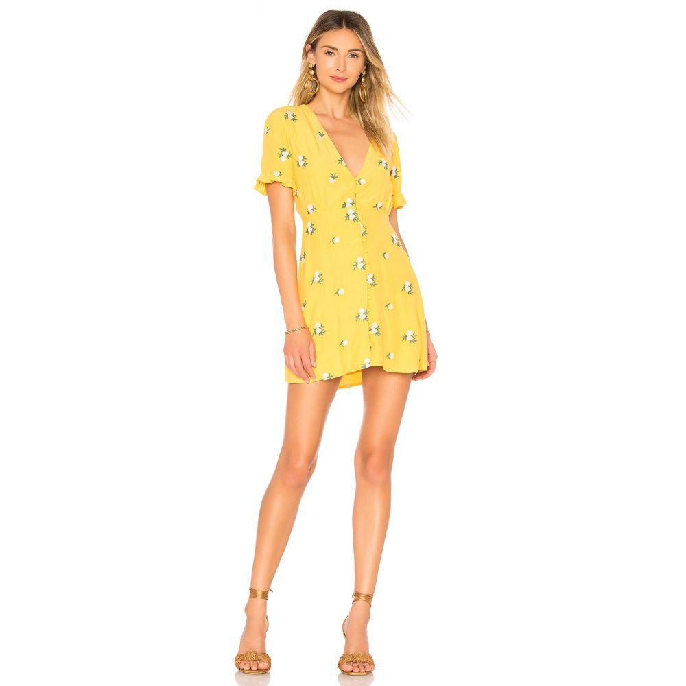 プライバシー プリーズ Privacy Please レディース ワンピース ワンピース・ドレス【Daffodil Embroidered Mini Dress】Sunny Yellow