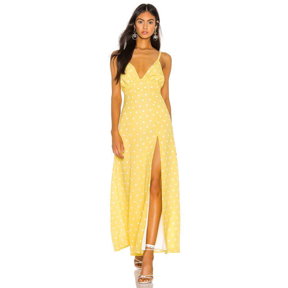 プライバシー プリーズ Privacy Please レディース ワンピース ワンピース・ドレス【Tatiana Maxi Dress】Yellow/White Dot