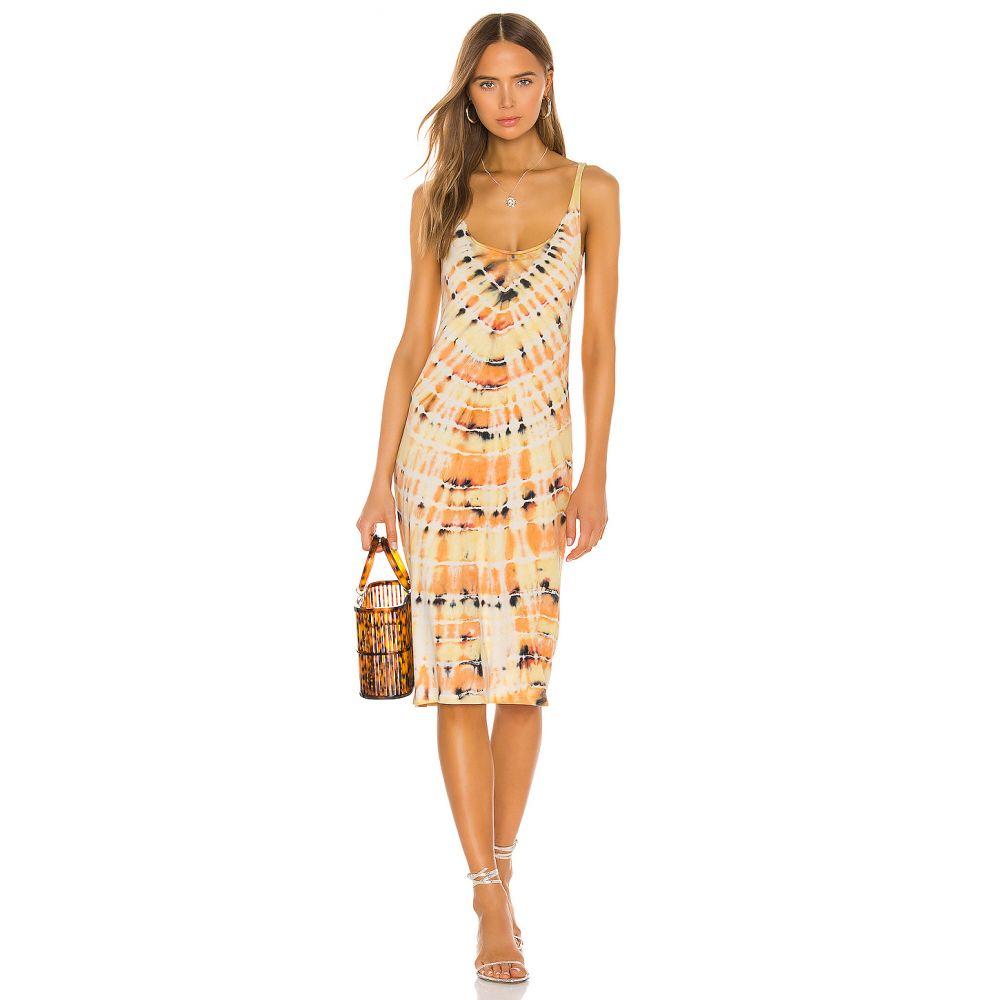 ラクエル アレグラ Raquel Allegra レディース ワンピース ワンピース・ドレス【Layering Tank Dress】Saffron Tie Dye