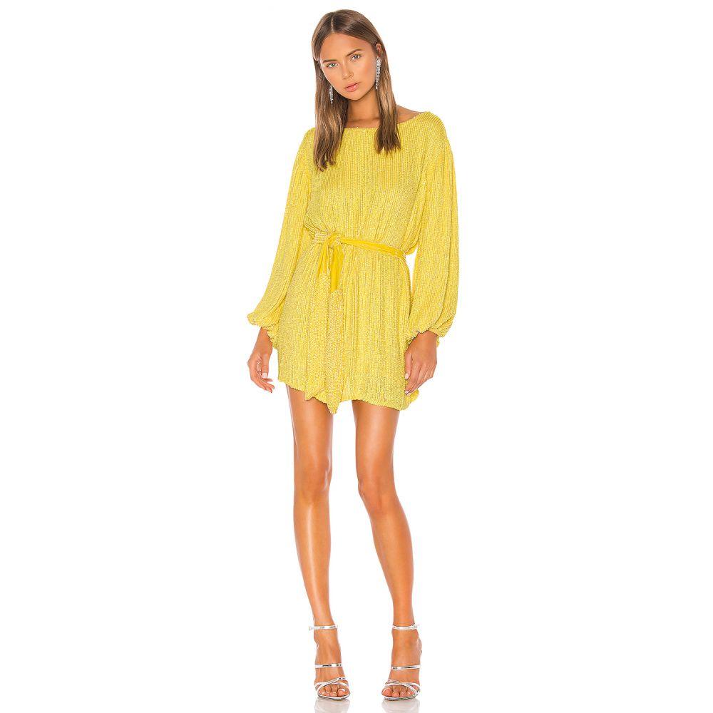 レトロフェット retrofete レディース ワンピース ワンピース・ドレス【Grace Dress】Metallic Yellow