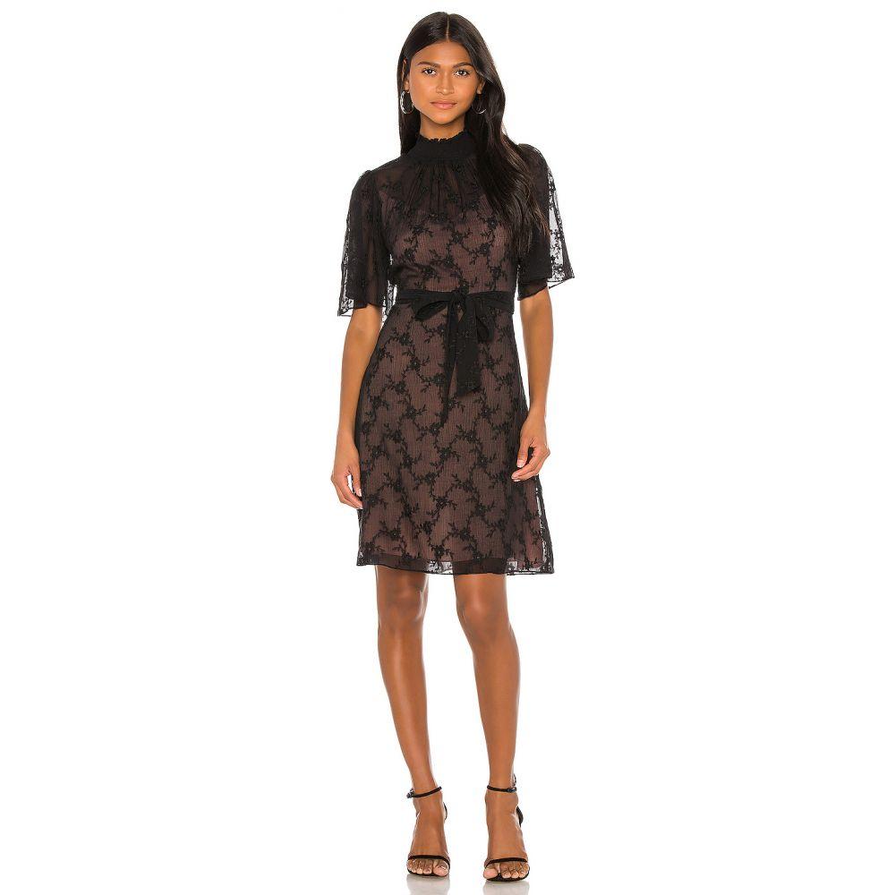 レベッカ テイラー Rebecca Taylor レディース ワンピース ワンピース・ドレス【Short Sleeve Vine Embroidery Dress】Black Combo