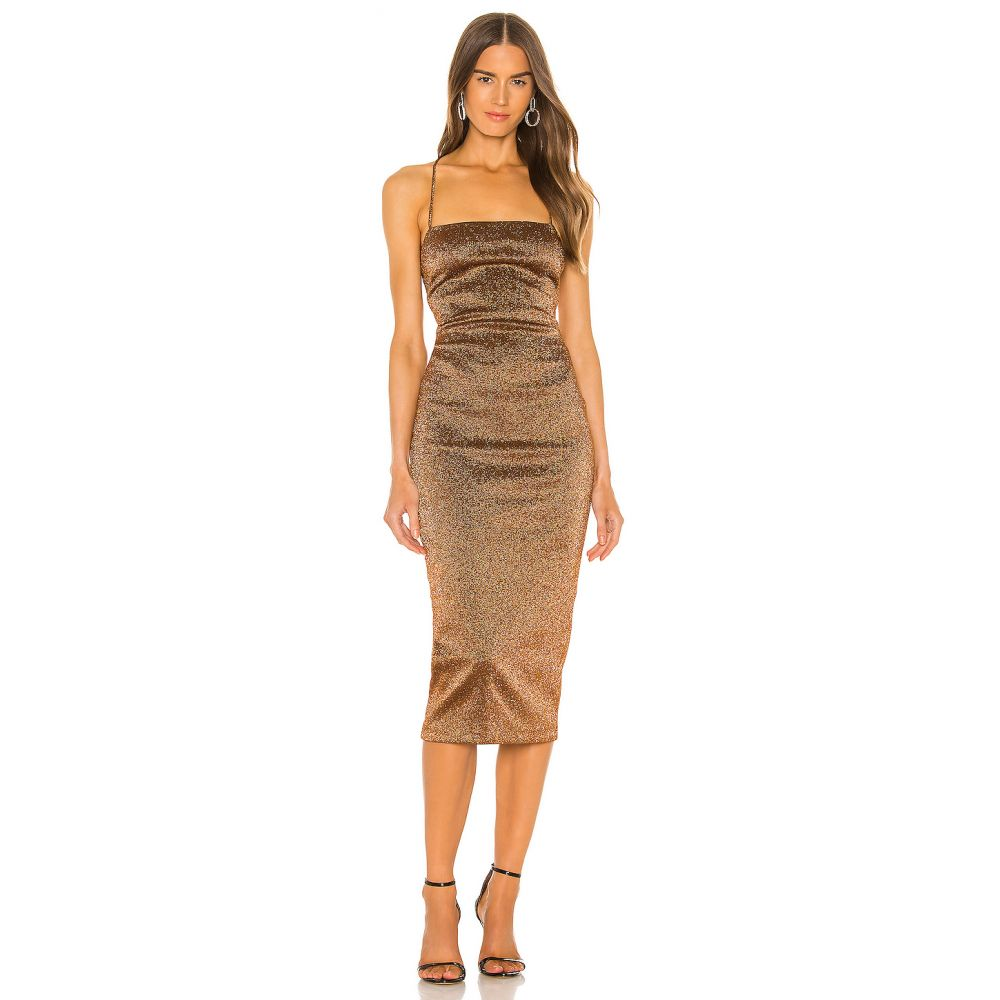 ベック アンド ブリッジ BEC&BRIDGE レディース ワンピース ワンピース・ドレス【Bronze Baby Midi Dress】Copper