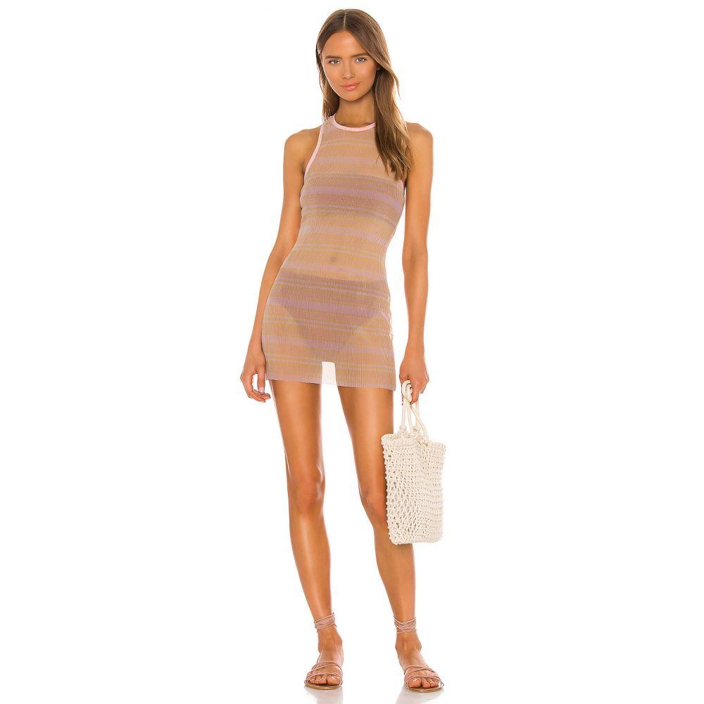 ラヴァーズフレンズ Lovers + Friends レディース ワンピース ワンピース・ドレス【The Quincy Mini Dress】Pink Stripe