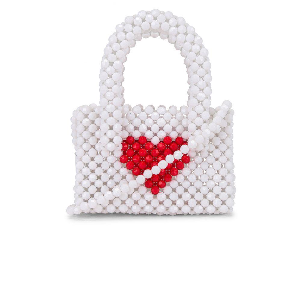 ラヴァーズフレンズ Lovers + Friends レディース 財布 【Rachel Micro Purse】White/Red