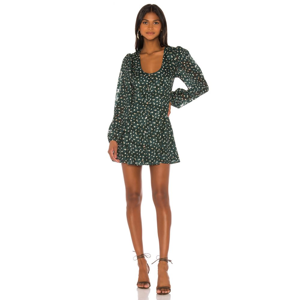 トゥラロサ Tularosa レディース ワンピース ワンピース・ドレス【Wilder Dress】Hunter Green Floral