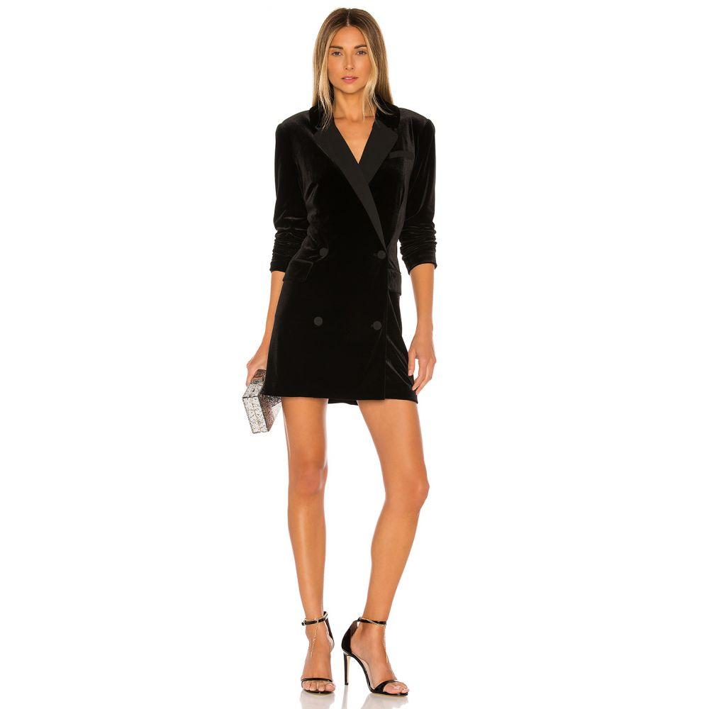 ワンステート 1. STATE レディース ワンピース ワンピース・ドレス【Ruched Velvet Blazer Dress】Rich Black