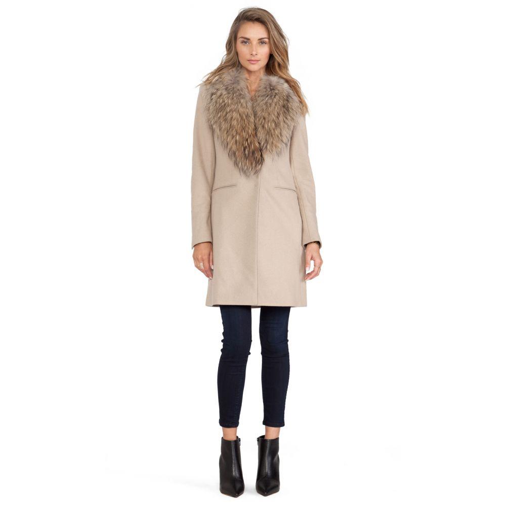 サム SAM. レディース ジャケット アウター【Crosby Jacket with Asiatic Raccoon Fur Trim】Camel/Natural