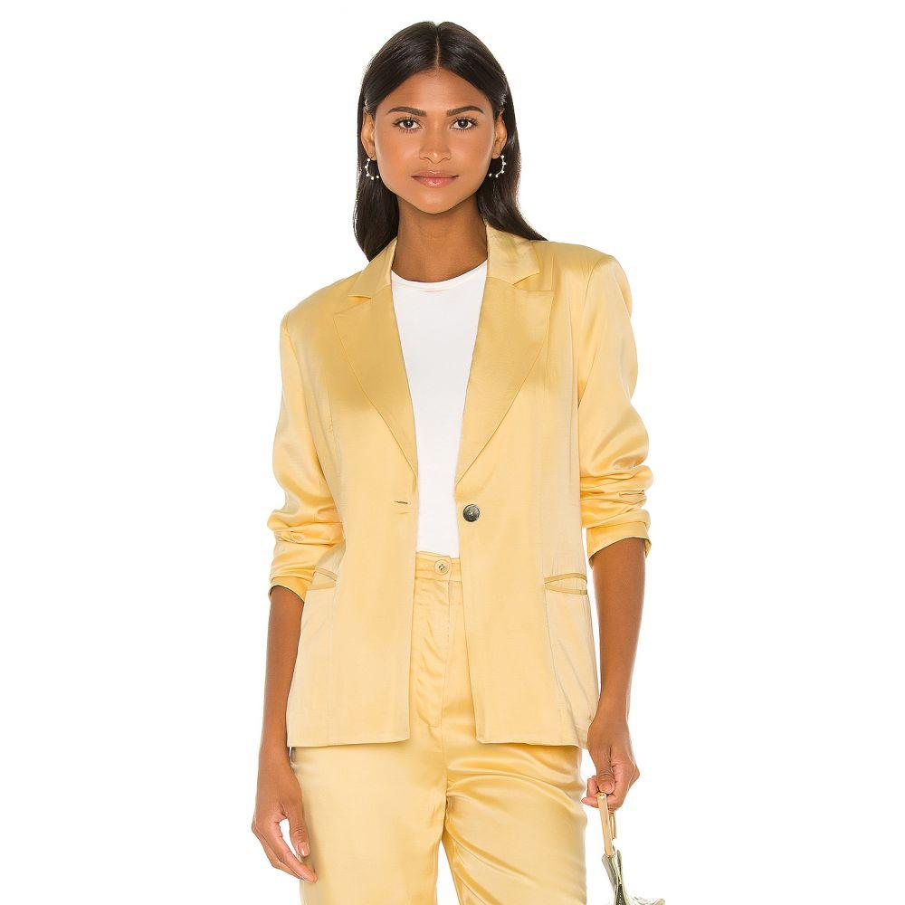 ソング オブ スタイル Song of Style レディース スーツ・ジャケット アウター【Zoe Blazer】Buttercream Yellow