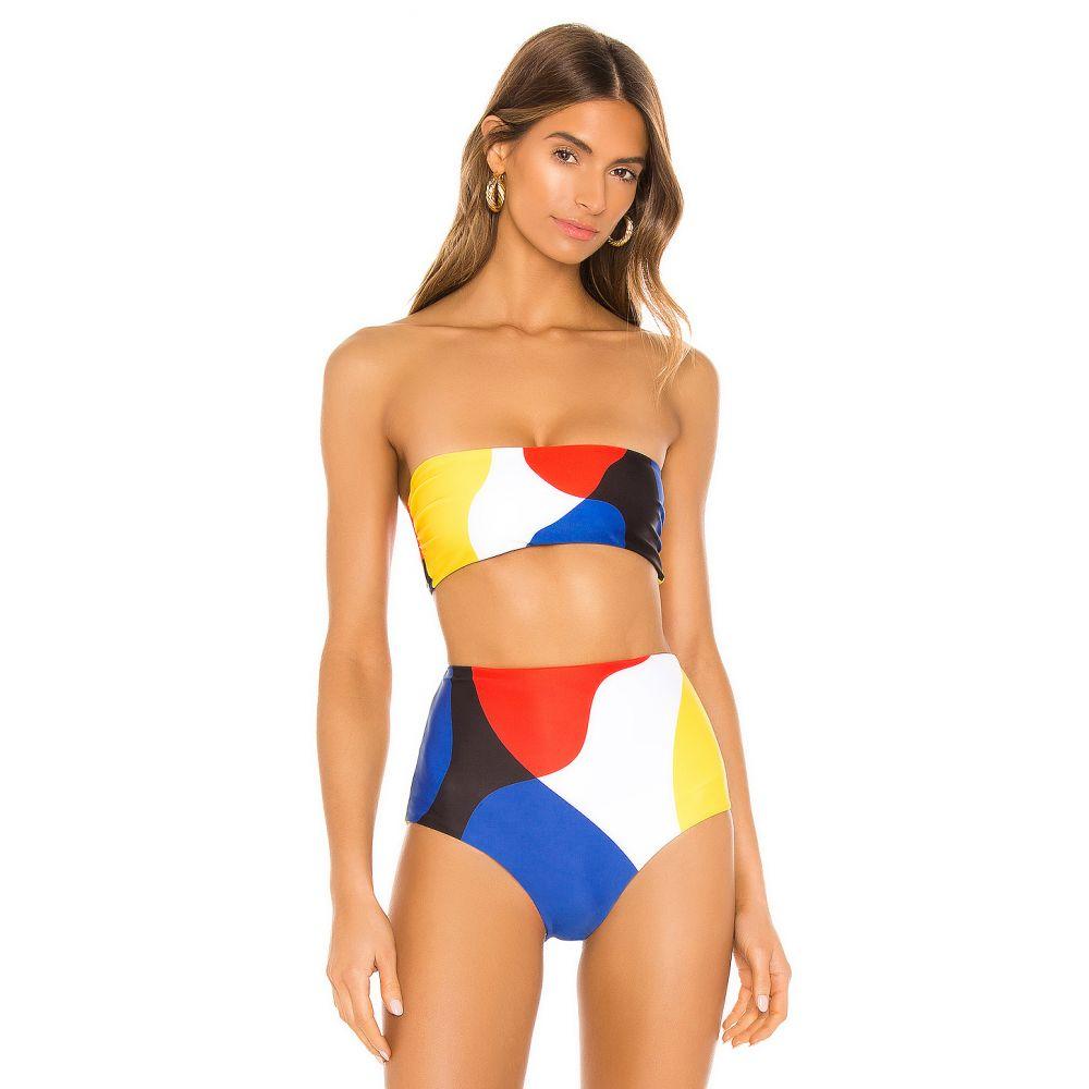 マラ ホフマン Mara Hoffman レディース トップのみ 水着・ビーチウェア【Abigail Bikini Top】White Multi