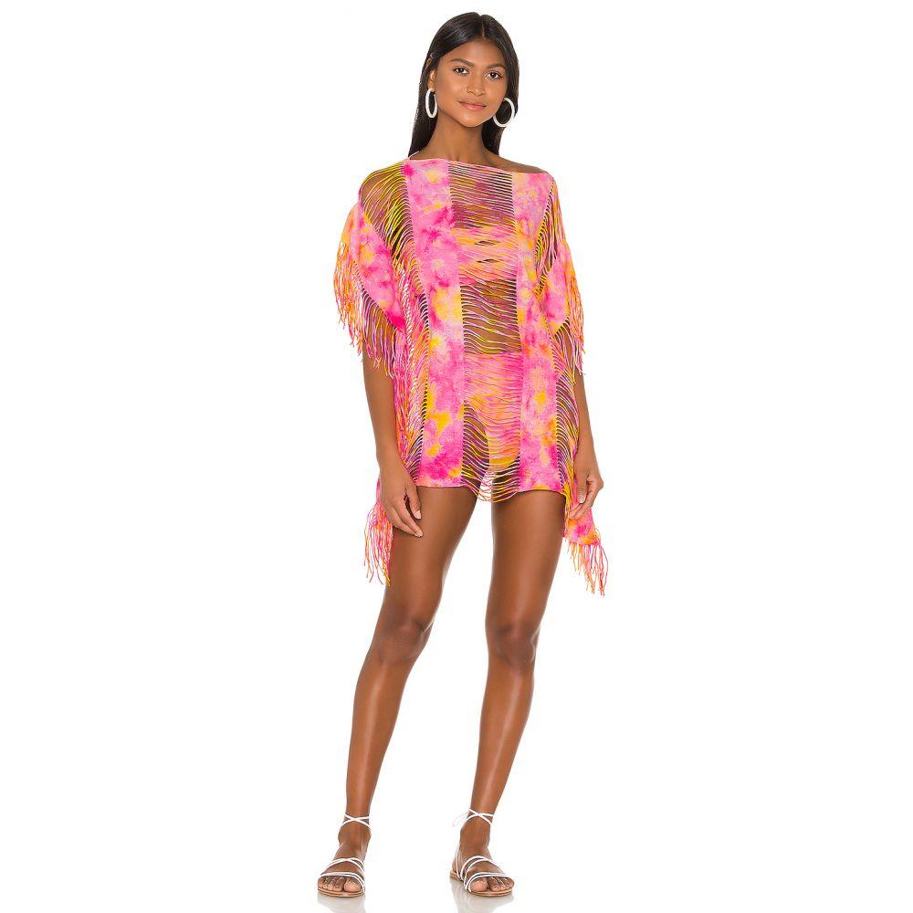 ピリキュー PILYQ レディース ビーチウェア 水着・ビーチウェア【Cropped Monique Cover Up】Corona Tie Dye