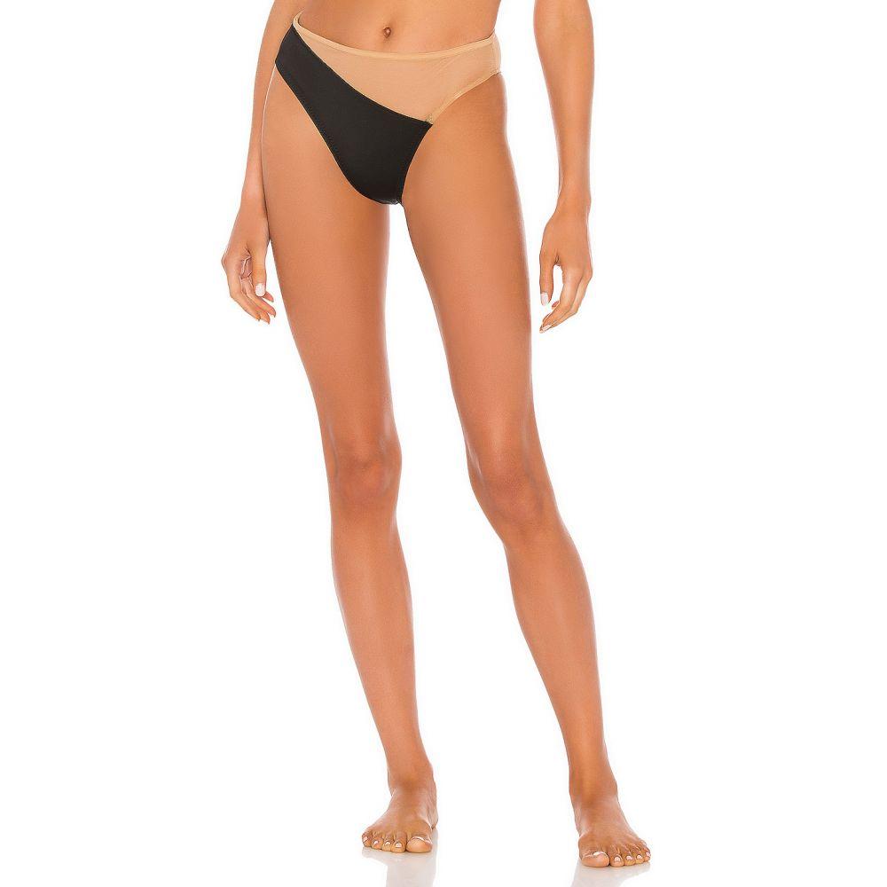 ノーマ カマリ Norma Kamali レディース ボトムのみ 水着・ビーチウェア【Snake Mesh Bikini Bottom】Black/Nude Mesh
