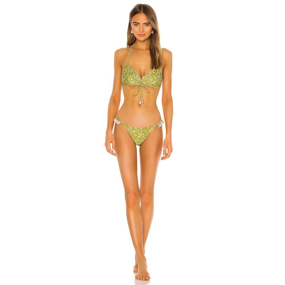 ジマーマン Zimmermann レディース 上下セット 水着・ビーチウェア【Peggy Shell Side Bikini Set】Green Floral