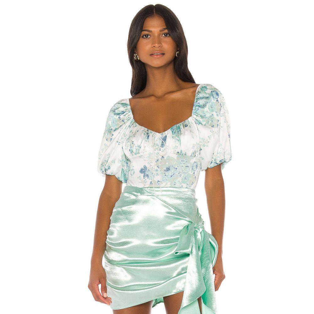 フォーラブアンドレモン For Love & Lemons レディース ボディースーツ インナー・下着【Limelight Bodysuit】Blue Floral