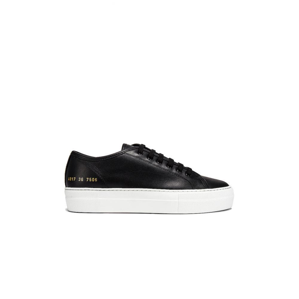 コモン プロジェクト Common Projects レディース スニーカー シューズ・靴【Tournament Low Platform Super Sneaker】Black/White