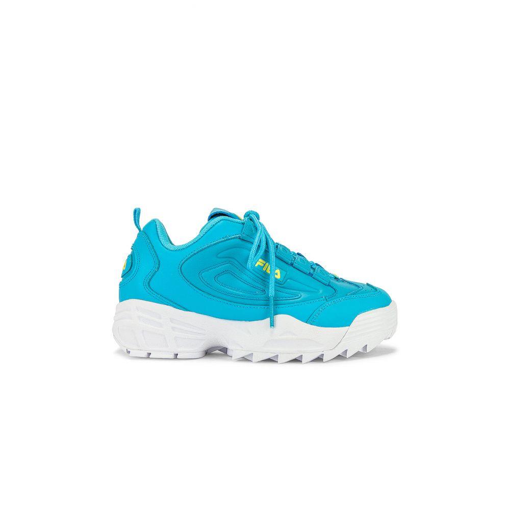 フィラ Fila レディース スニーカー シューズ・靴【Disruptor 3 Sneaker】Bachelor Button/Limelight/White