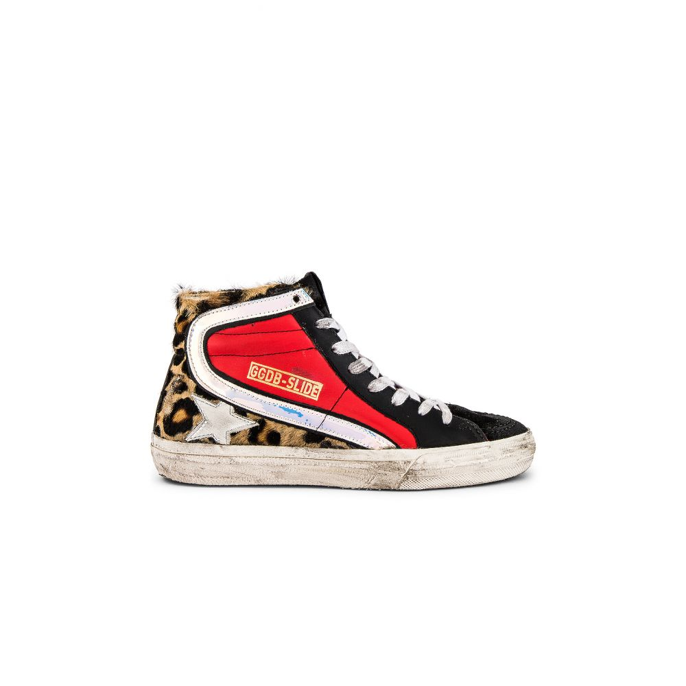 ゴールデン グース Golden Goose レディース スニーカー シューズ・靴【Slide Calf Hair Sneakers】Snow Leopard/Red/White Star