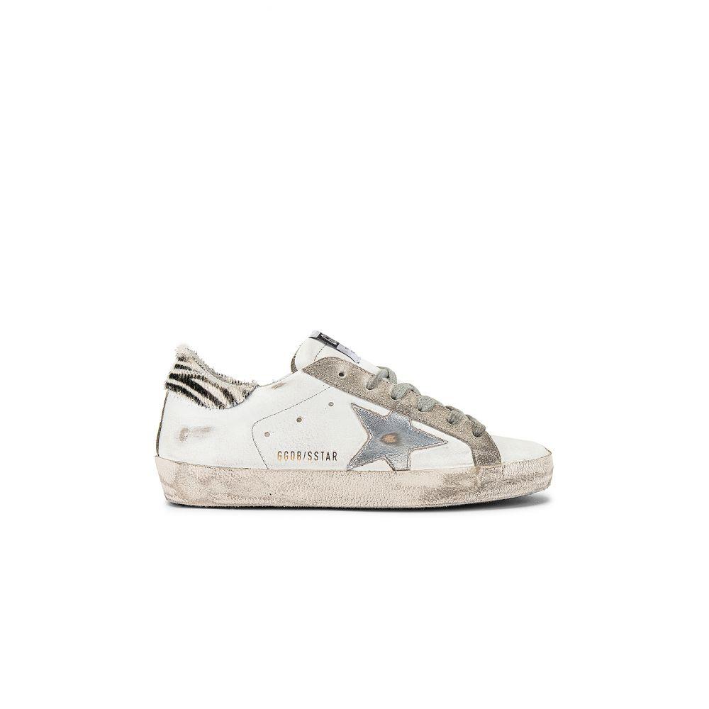 ゴールデン グース Golden Goose レディース スニーカー シューズ・靴【Superstar Sneaker】White/Metal Silver/Pony Ziger