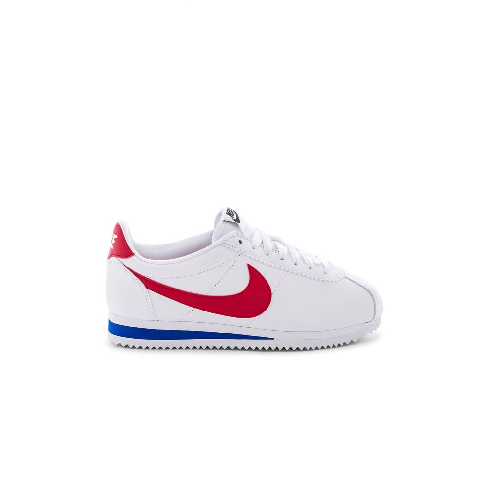 ナイキ Nike レディース スニーカー シューズ・靴【Classic Cortez Leather Sneaker】White/Varsity Red/Varsity Royal