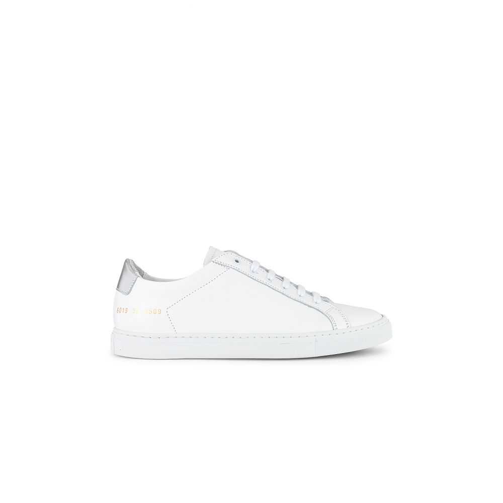 コモン プロジェクト Common Projects レディース スニーカー シューズ・靴【Retro Low Sneaker】White/Silver