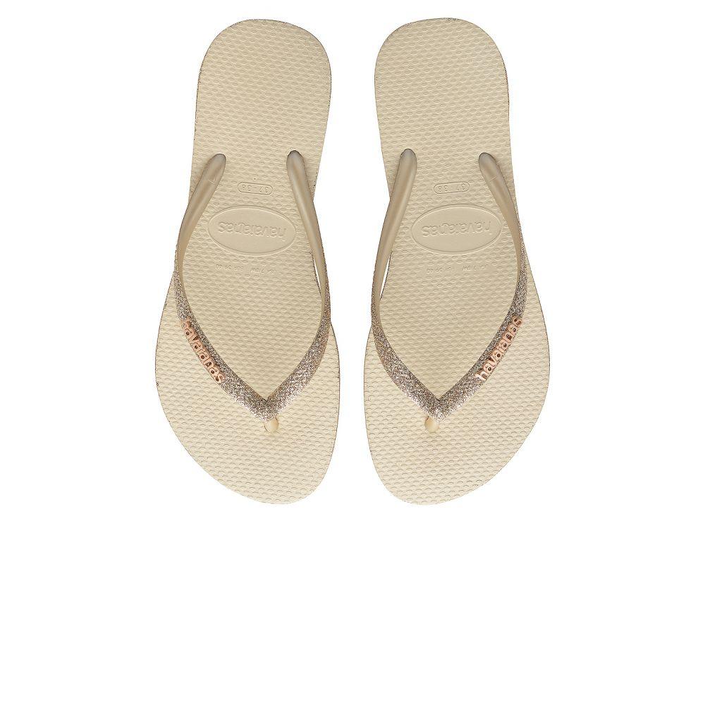 ハワイアナス Havaianas レディース ビーチサンダル シューズ・靴【Slim Sparkle Sandal】Beige
